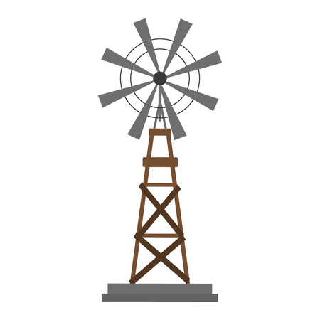 farm windmill symbol cartoon vector illustration graphic design
