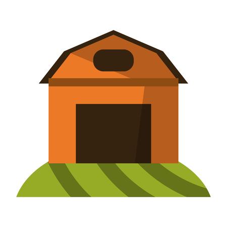 farm house building symbol vector illustration graphic design