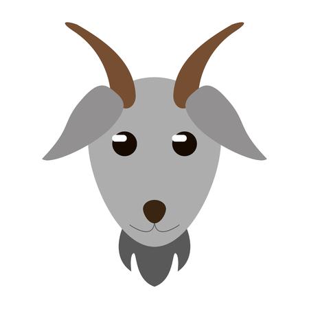goat animal head symbol vector illustration graphic design Ilustração