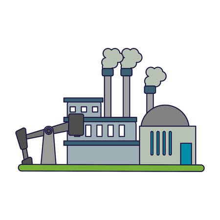 Refinery industry plant symbol vector illustration graphic design Çizim