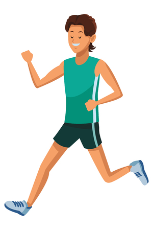 man running athlete vector illustration graphic design