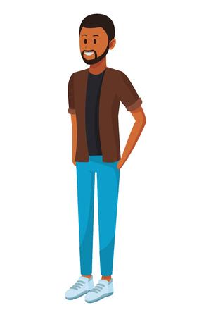 afroamerican man with beard vector illustration graphic design