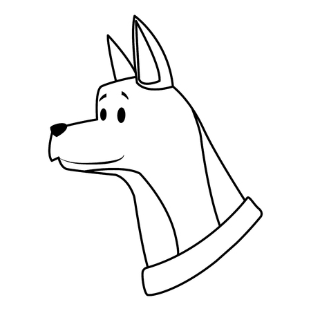 dog head avatar with collar vector illustration graphic design Vectores
