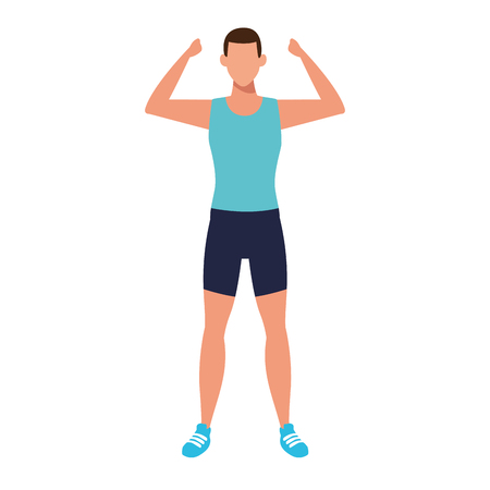 man working out avatar vector illustration graphic design