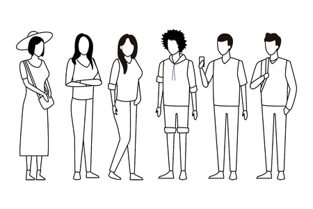 casual people cartoon vector illustration graphic design