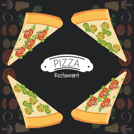 Pizza restaurant fast food poster vector illustration graphic design