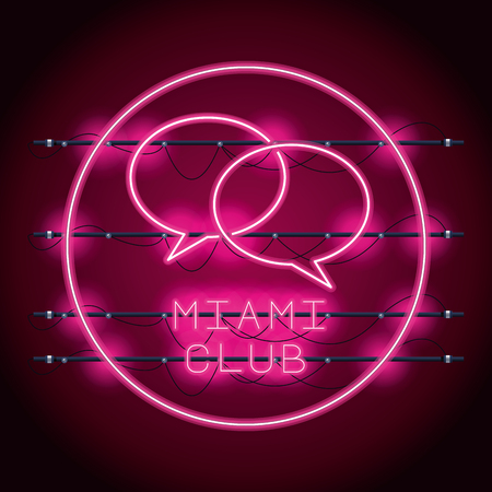 Disco party neon lights advertising vector illustration graphic design