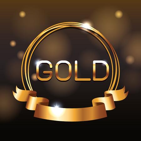 VIP gold pass card vector illustration graphic design Illustration