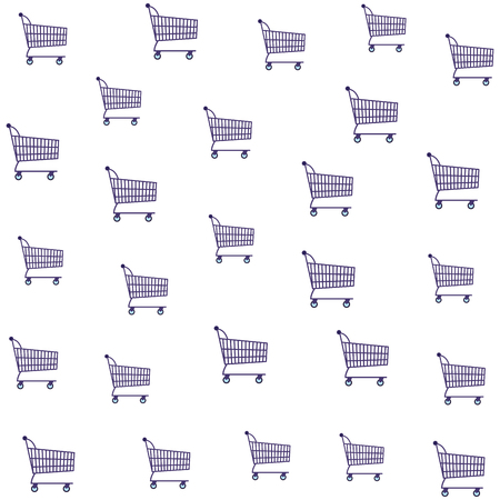 Shopping background pattern cartoons vector illustration graphic design Stock Vector - 124814650