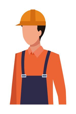construction worker proffesional worker avatar vector illustration graphic design Illustration