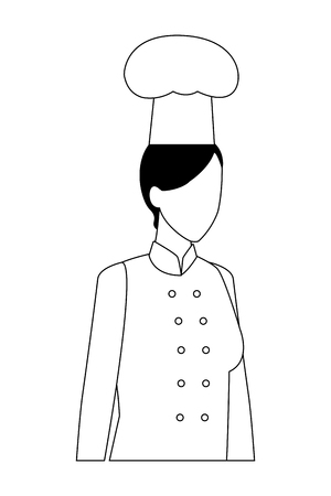 chef woman proffesional worker avatar profile vector illustration graphic design