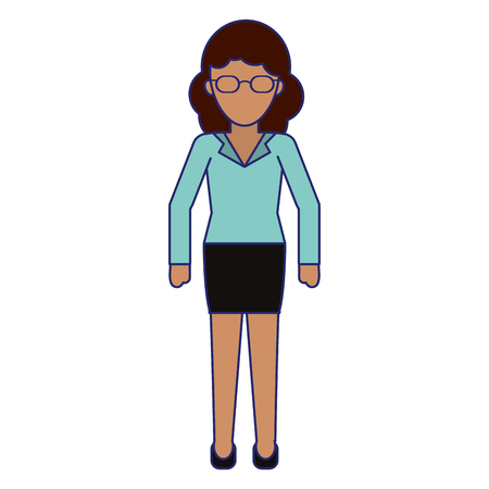Executive businesswoman cartoon isolated vector illustration graphic design Reklamní fotografie - 124729498