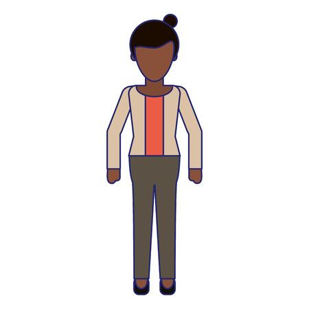 Executive businesswoman cartoon isolated vector illustration graphic design Ilustrace