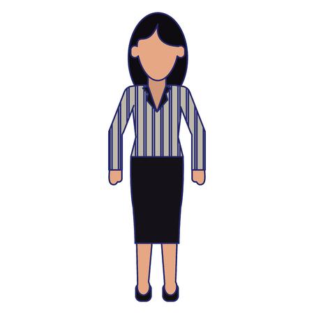 Executive businesswoman cartoon isolated vector illustration graphic design Reklamní fotografie - 124729511