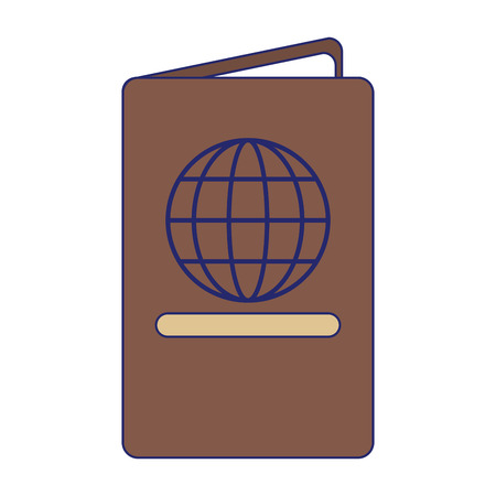 passport travel document id vector illustration graphic design