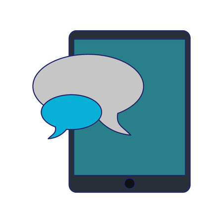 smartphone chat bubbles symbol vector illustration graphic design