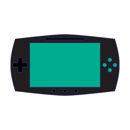 portable videogame console technology vector illustration graphic design