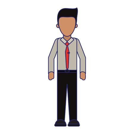 Executive businessman cartoon isolated vector illustration graphic design Ilustrace