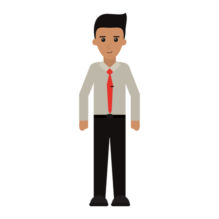 Executive businessman cartoon isolated vector illustration graphic design Illustration