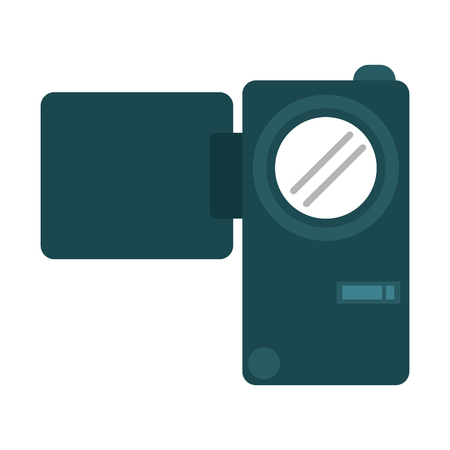 camcorder videocamera technology isolated vector illustration graphic design