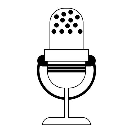 old vintage microphone symbol vector illustration graphic design Illustration