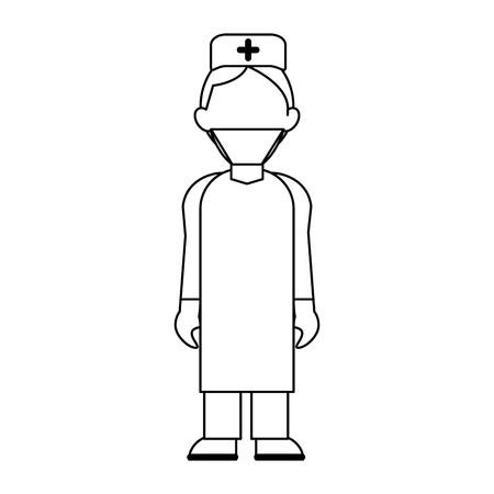 medical doctor with gown and cap avatar cartoon vector illustration graphic design 일러스트
