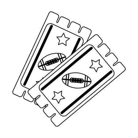 american football game tickets vector illustration graphic design Illustration
