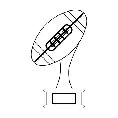 american football champonship game symbol vector illustration graphic design Ilustrace