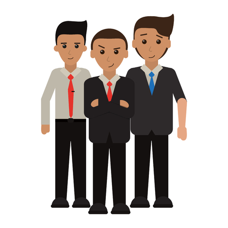 Executive business teamwork coworkers cartoons vector illustration graphic design