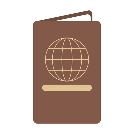 passport travel document id vector illustration graphic design Standard-Bild - 118224124