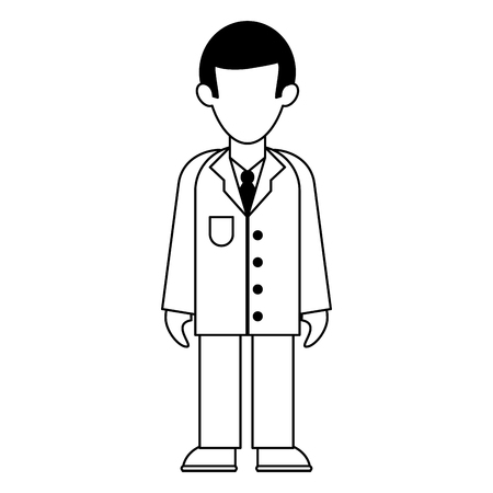 medical doctor with gown avatar cartoon vector illustration graphic design 일러스트