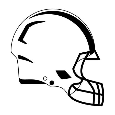 american football helmet symbol vector illustration graphic design Illustration