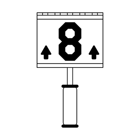 Game change symbol post vector illustration graphic design