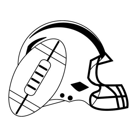 American football game helmet and ball vector illustration graphic design