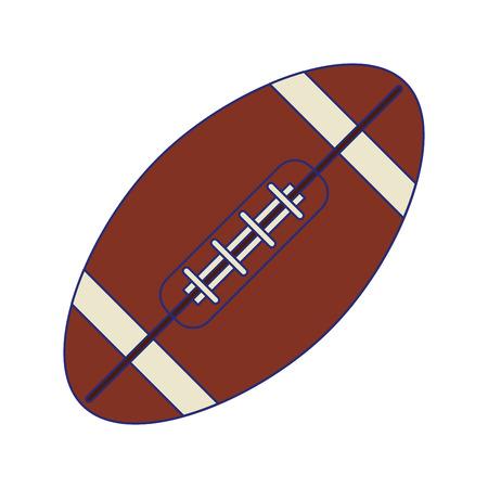 american football ball symbol vector illustration graphic design Illustration