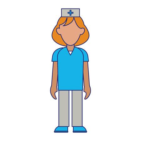 medical nurse avatar cartoon vector illustration graphic design Illustration