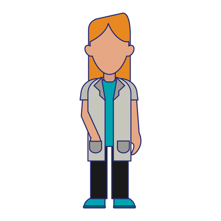 medical woman doctor avatar cartoon vector illustration graphic design