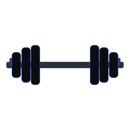 gym dumbbell symbol isolated vector illustration graphic design
