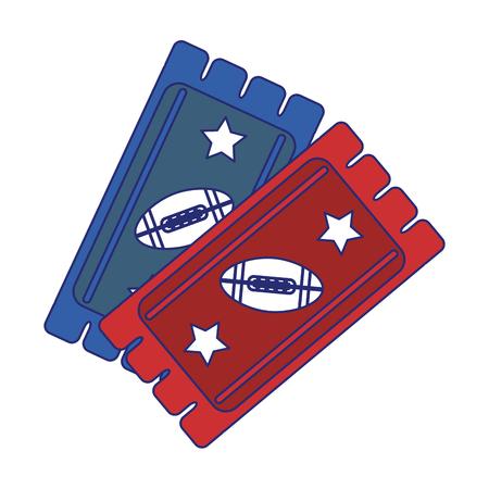 american football game tickets vector illustration graphic design Ilustrace