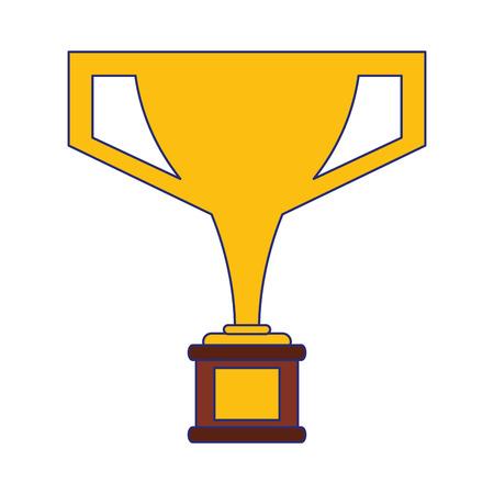 trophy cup award symbol vector illustration graphic design Reklamní fotografie - 124729786