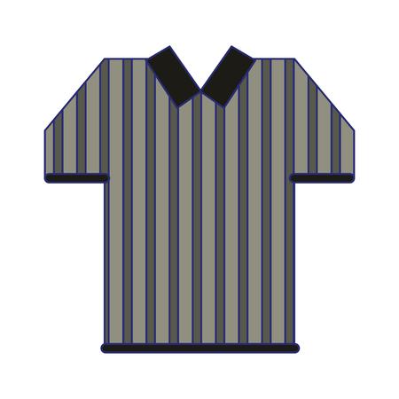 referee tshirt wear symbol vector illustration graphic design Illustration