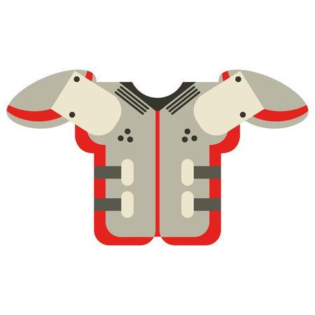 american football armour symbol vector illustration graphic design