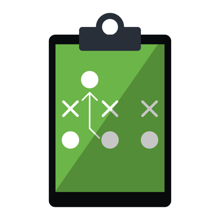 game strategy on blackboard symbol vector illustration graphic design