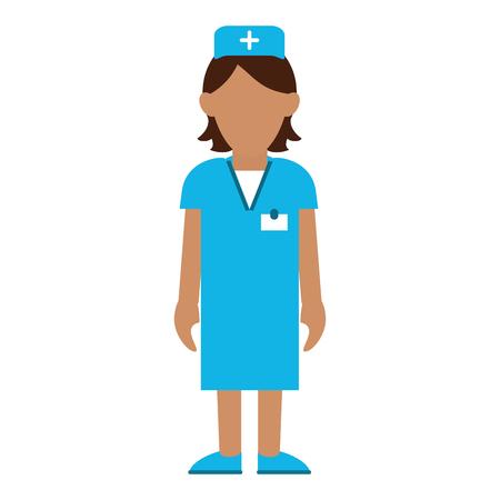 medical woman nurse avatar cartoon vector illustration graphic design Illustration
