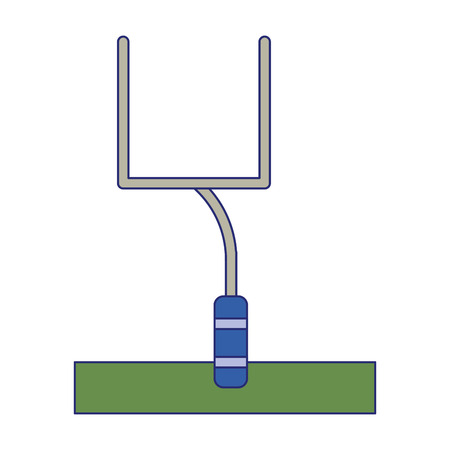 american football goal on field vector illustration graphic design
