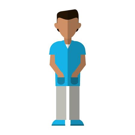 medical male nurse avatar cartoon vector illustration graphic design