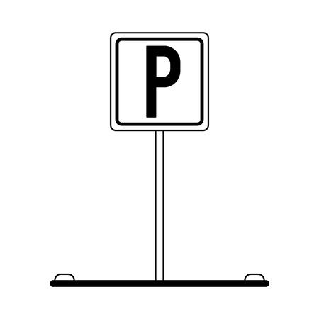 Parking zone road sign symbol vector illustration graphic design Çizim