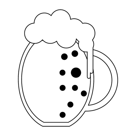 Beer cold cup isolated vector illustration graphic design