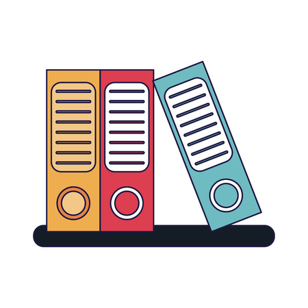 Business and office folders on shelf vector illustration graphic design  イラスト・ベクター素材