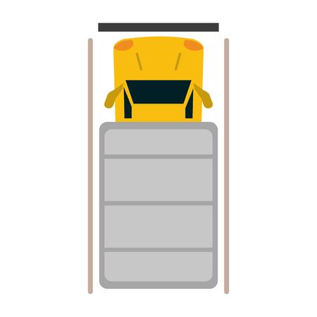 Cargo truck topview symbol vector illustration graphic design Çizim